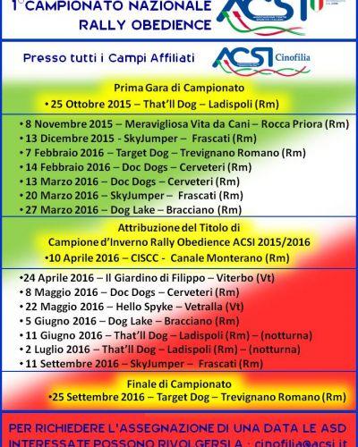 Campionato Nazionale RallyO ACSI