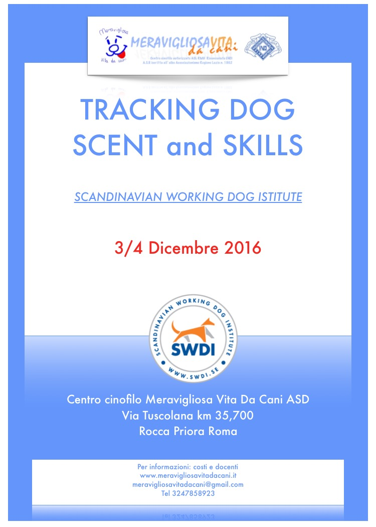 Tracking dog Scent and Skills